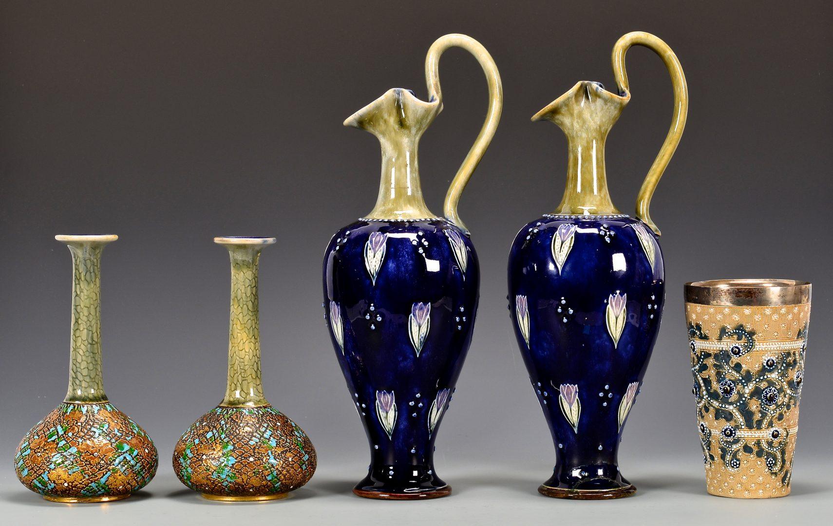 Lot 110: Group Doulton Pottery Items, 5 pcs.