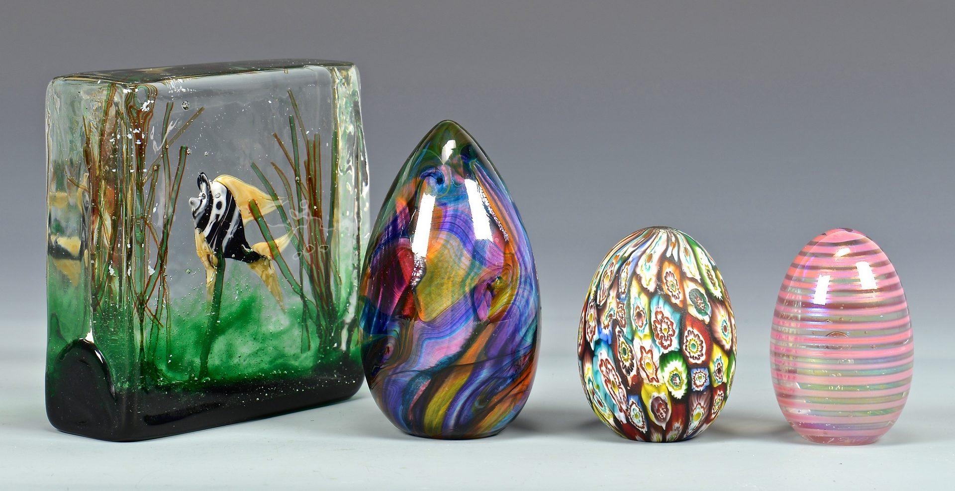 Lot 112: Group of Art Glass Items, 9 pcs.