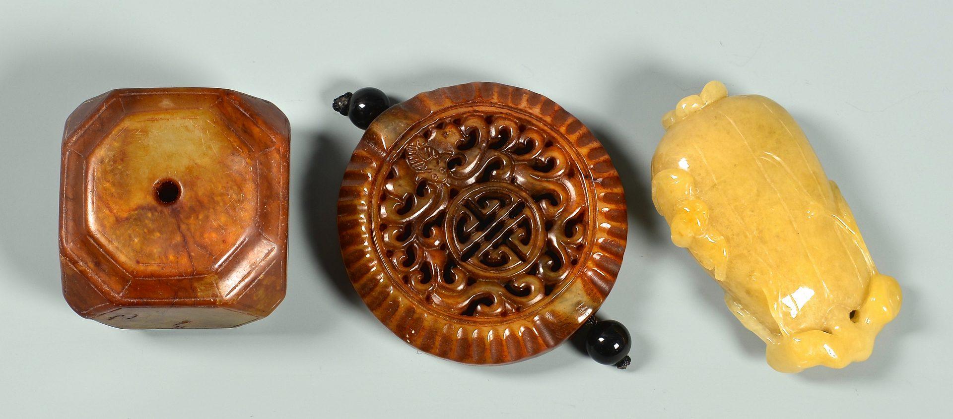 Lot 115: 6 Hardstone Toggles & 9 Hardstone Beads