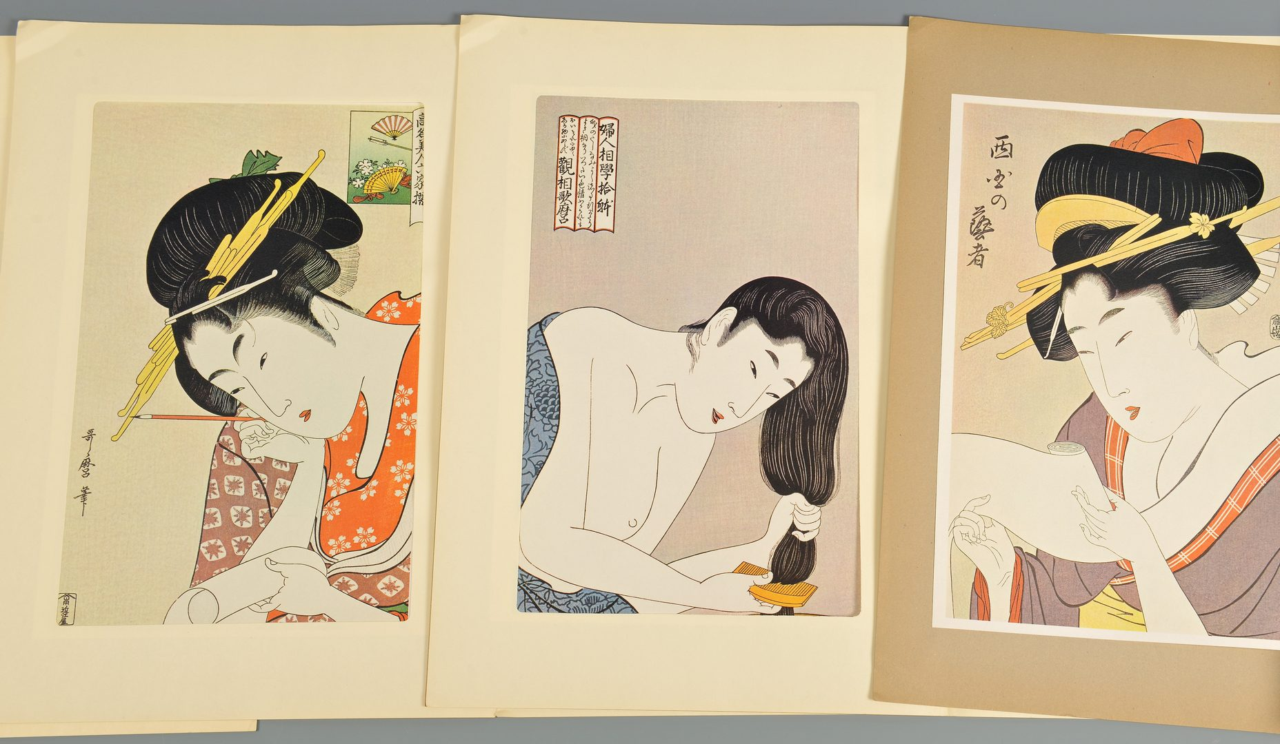 Lot 123: Utamaro, Ukiyo-e Hanga 24 Masterpieces & Others