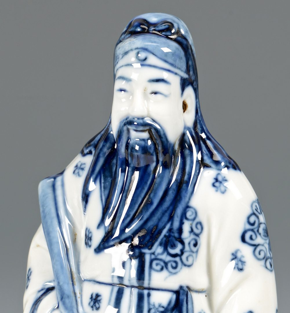 Lot 126: 6 Chinese Porcelain Items, incl. figurals