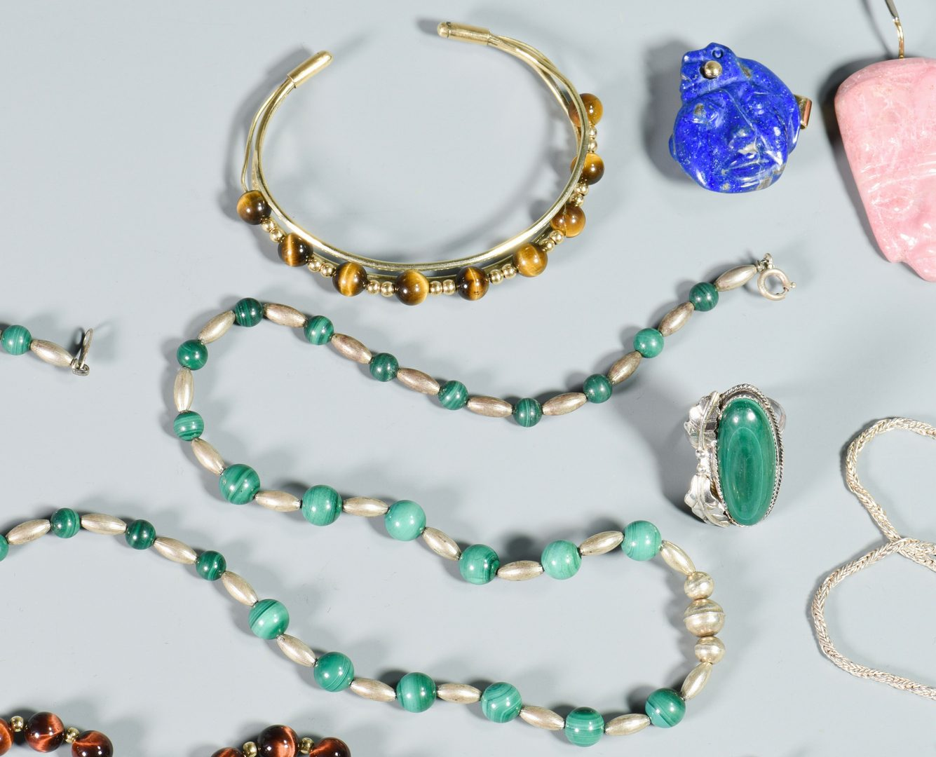 Lot 140: Group of Various Stone Jewelry