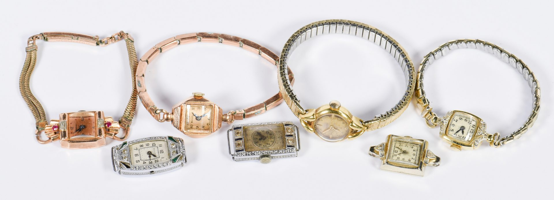 Lot 141: Group Vintage 14K Ladies Watches