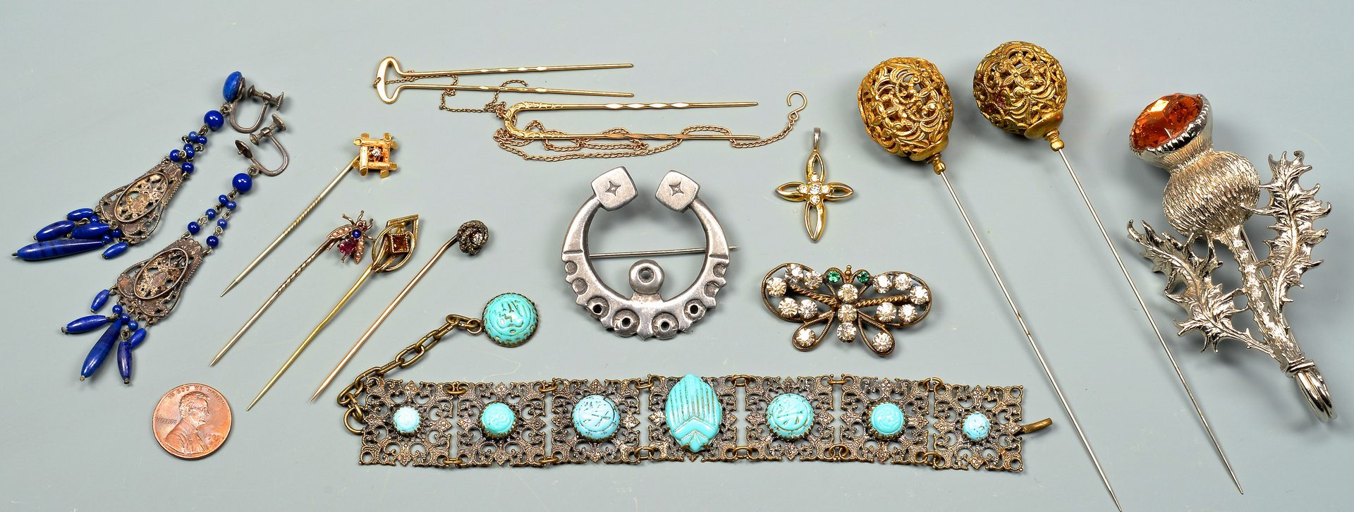 Lot 145: Group of Ladies Gold & Costume Jewelry