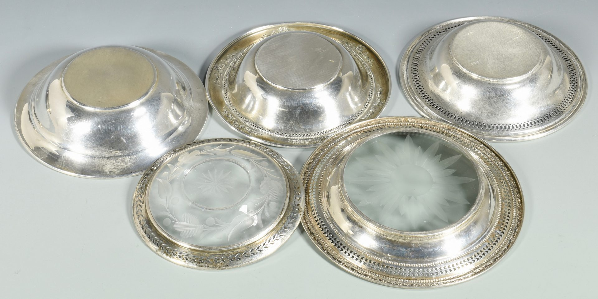 Lot 153: 12 Assorted Sterling Silver Holloware Items