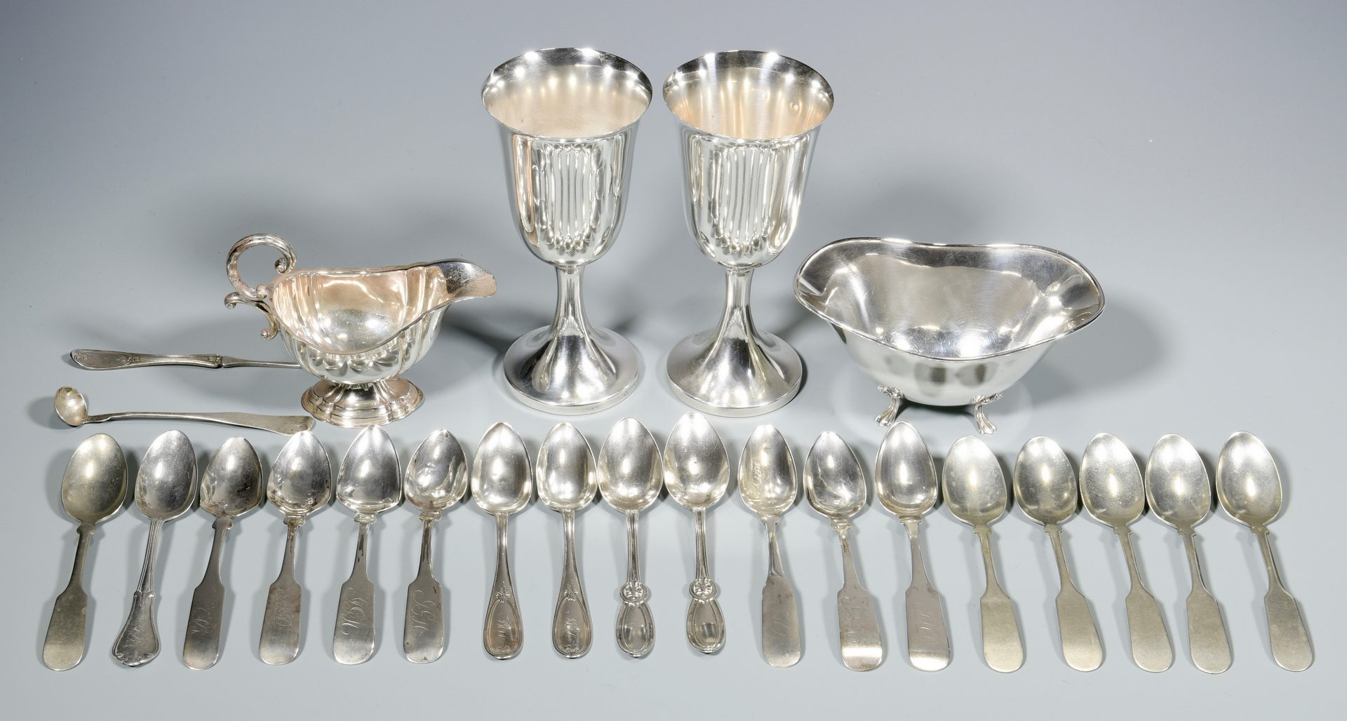 Lot 154: 23 Assorted Sterling & Coin Silver Items