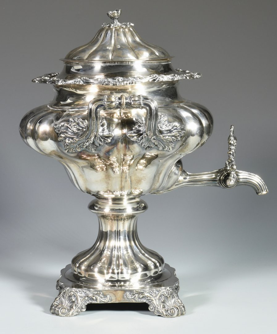 Lot 159: Old Sheffield Melon-Form Hot Water Urn