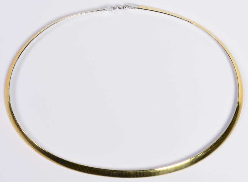Lot 15: 14K Yellow and White Reverse Collar Necklace