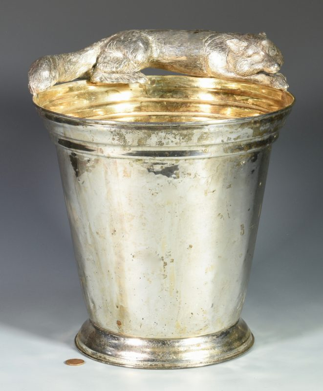 Lot 161: Franco Lapini Champagne Bucket w/ Fox