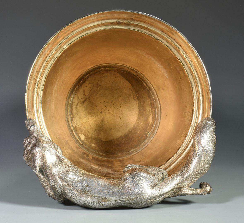 Lot 161: Franco Lapini Champagne Bucket w/ Fox