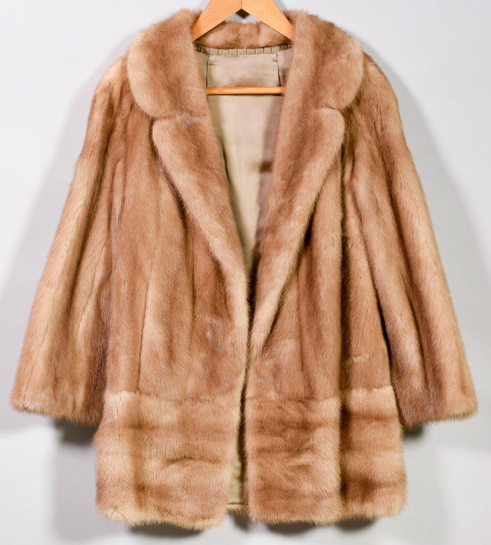 Lot 168: Mink Fur Short Jacket with Belt, Honey Color