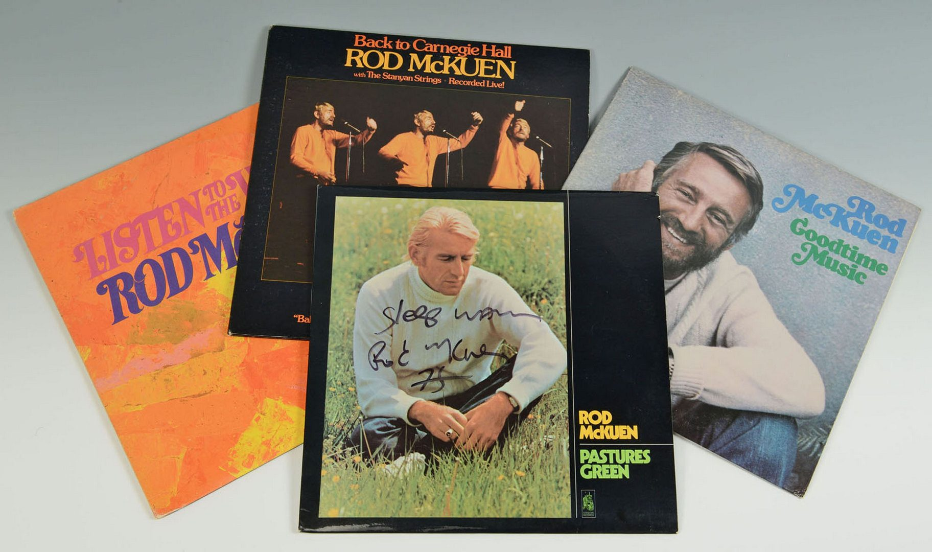 Lot 176: Collection of Rod McKuen albums & first edition bo