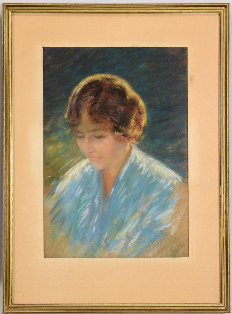 Lot 178: Two 20th Century Pastel Portraits