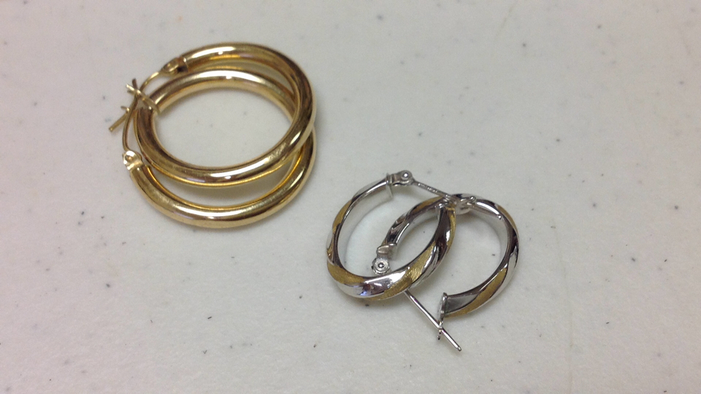Lot 1: Group 14K Earrings and Bracelet