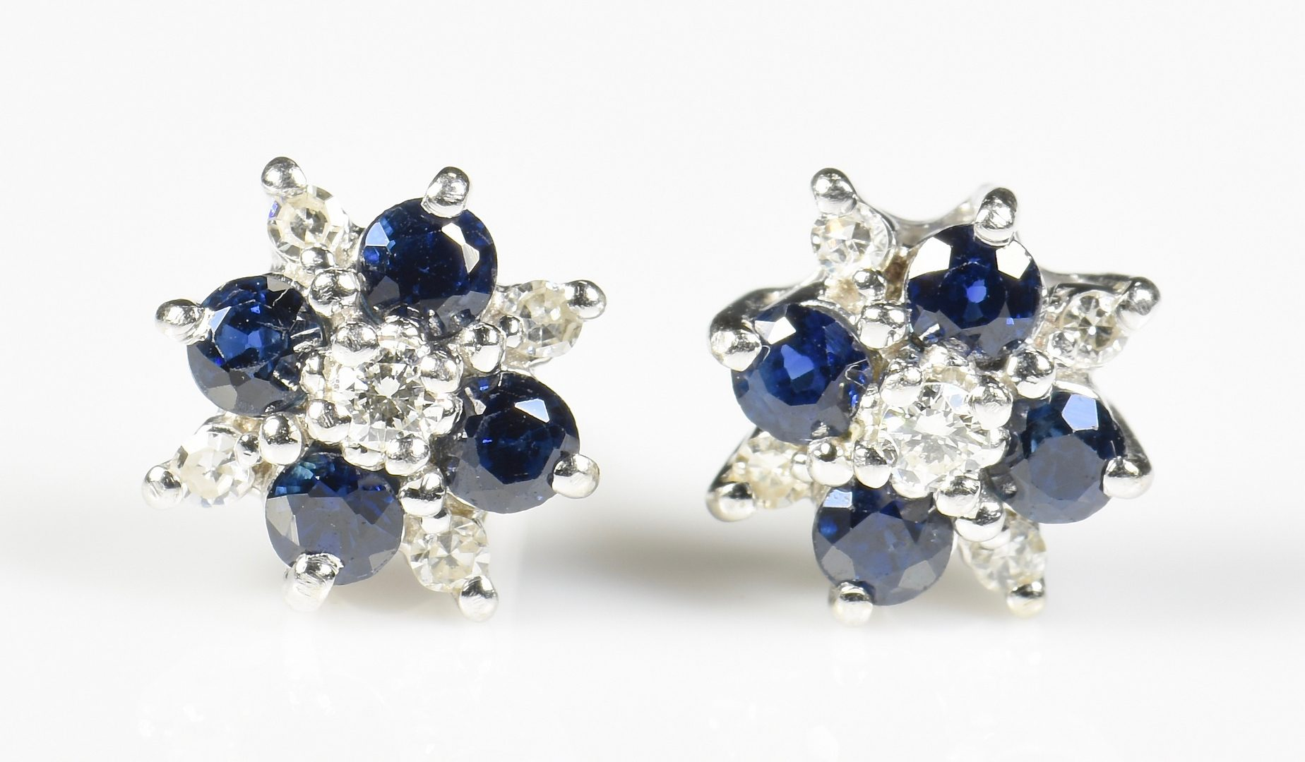 Lot 21: 14K Sapphire Diamond Studs, Pendant