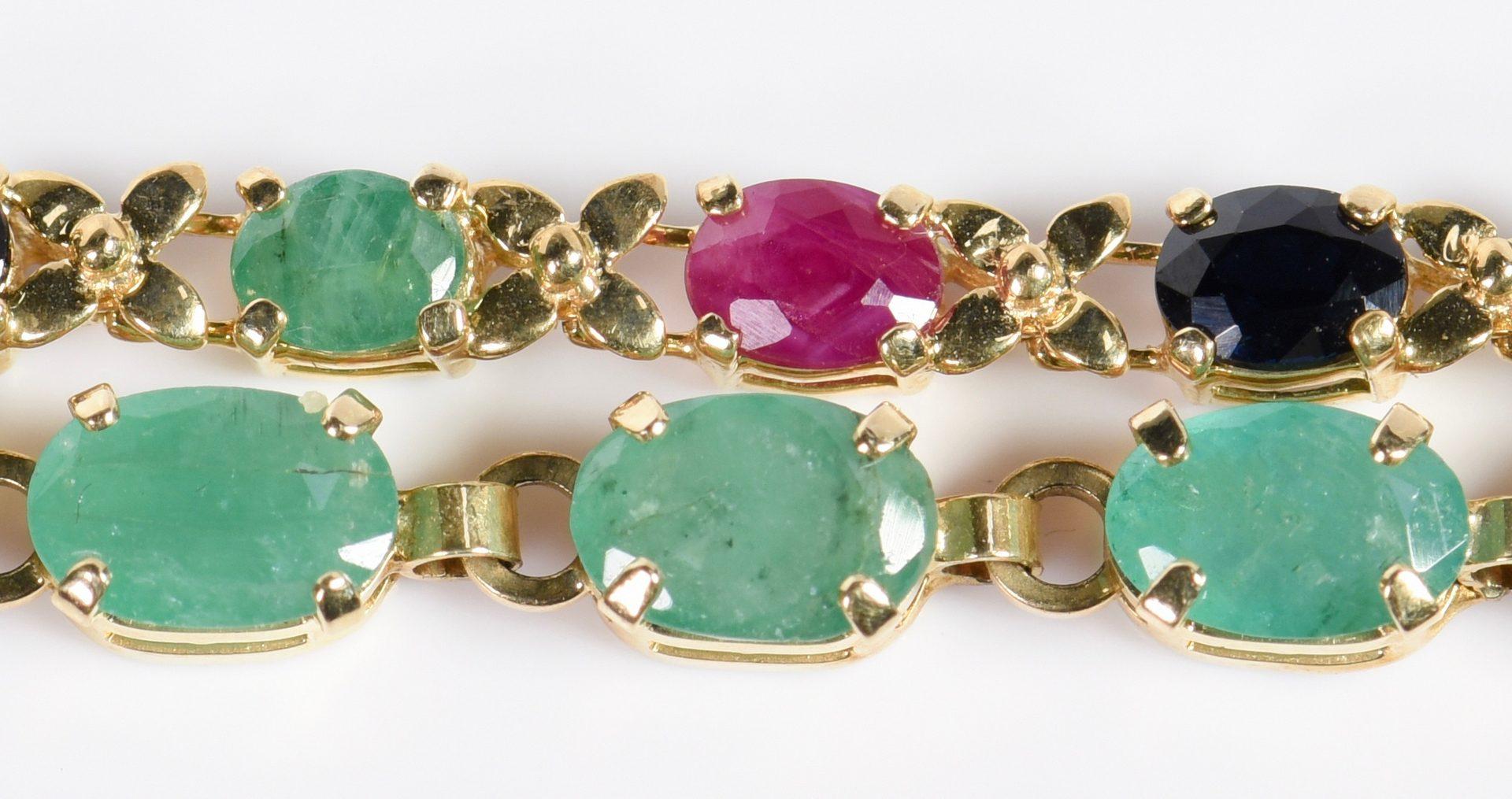Lot 22: 3 14K Precious Stone Jewelry items