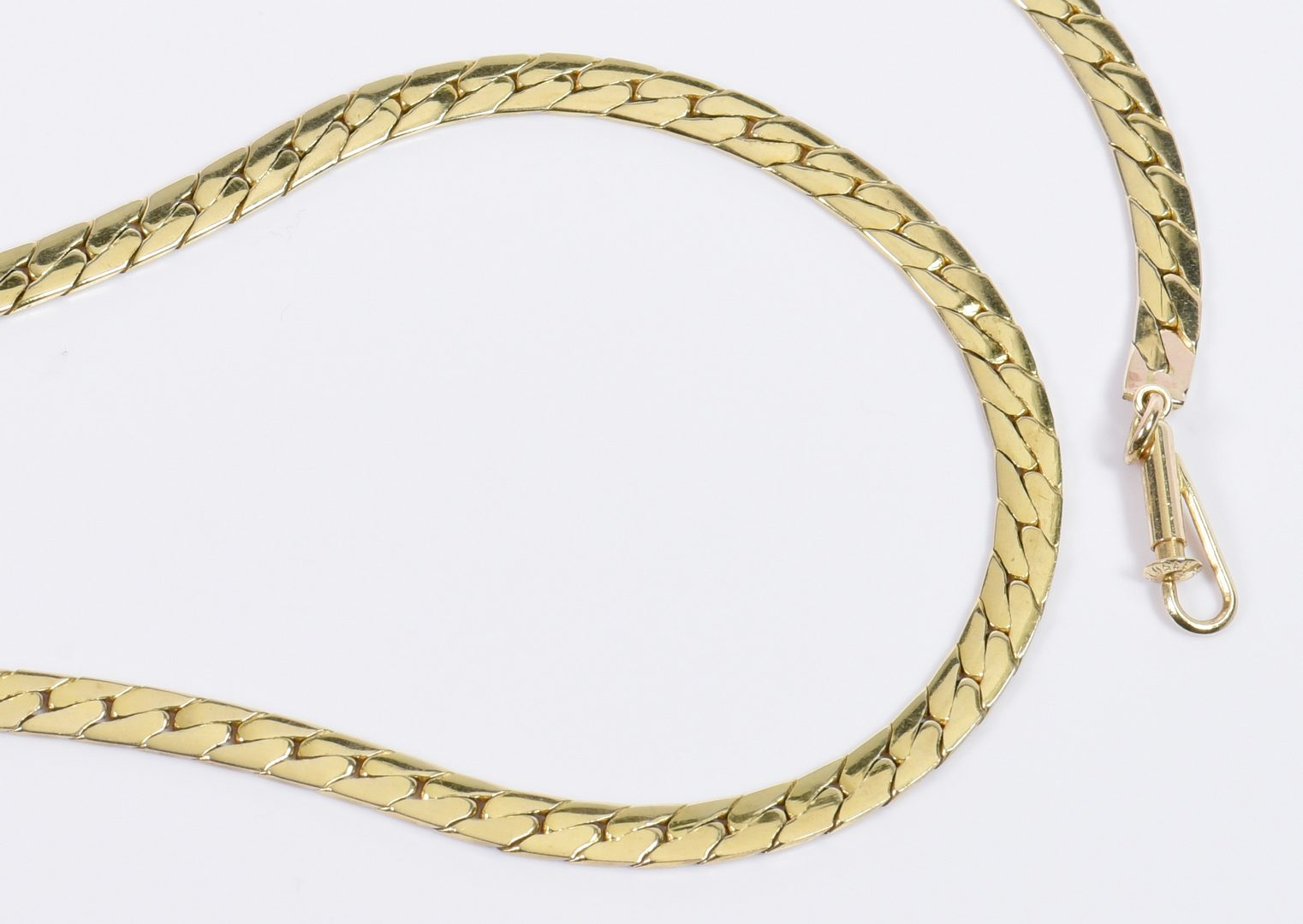 "Lot 23: 20"" L 14K Herringbone Necklace"