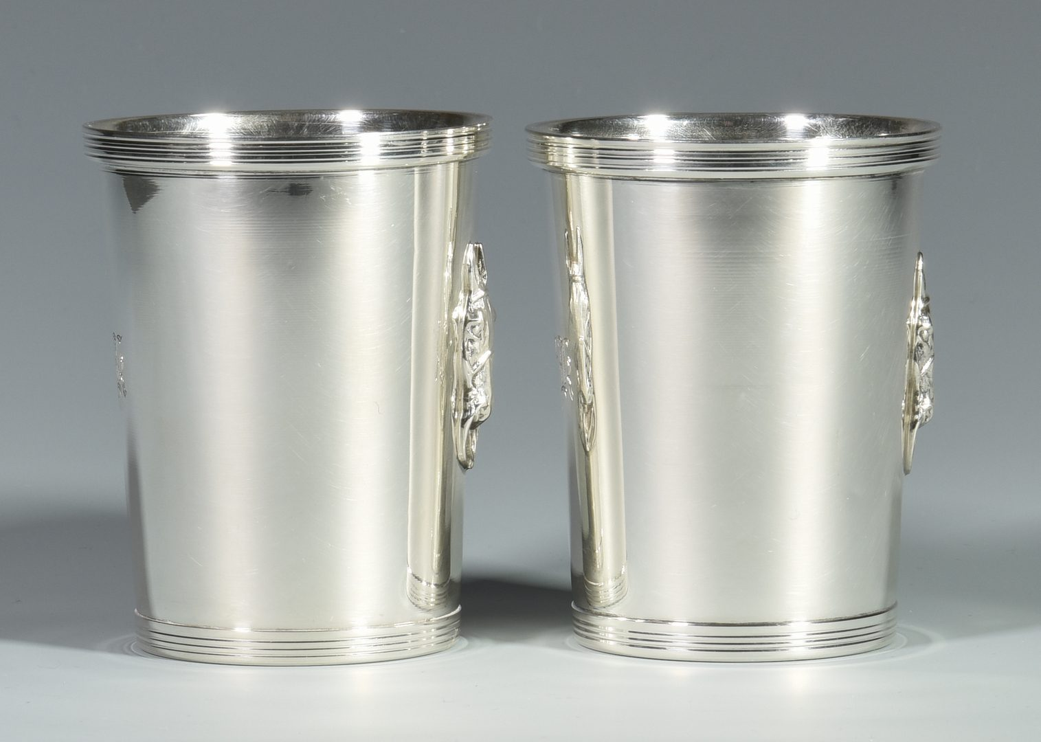 Lot 28: 2 Esco Sterling Julep Cups w/ Horse Decoration