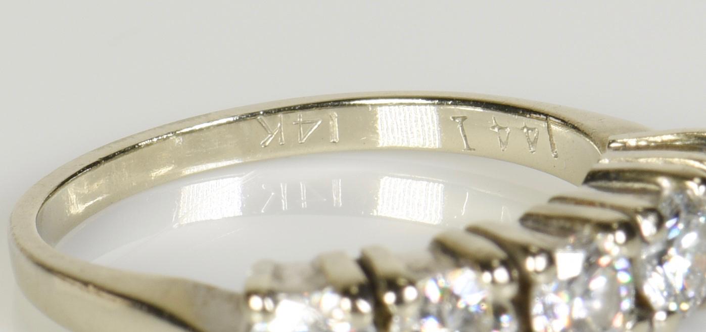 Lot 2: Two 14K Diamond Bands