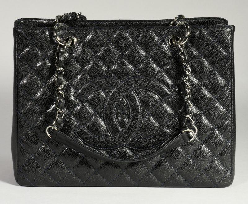Lot 33: Chanel Grand Shopping Tote, Dark Navy