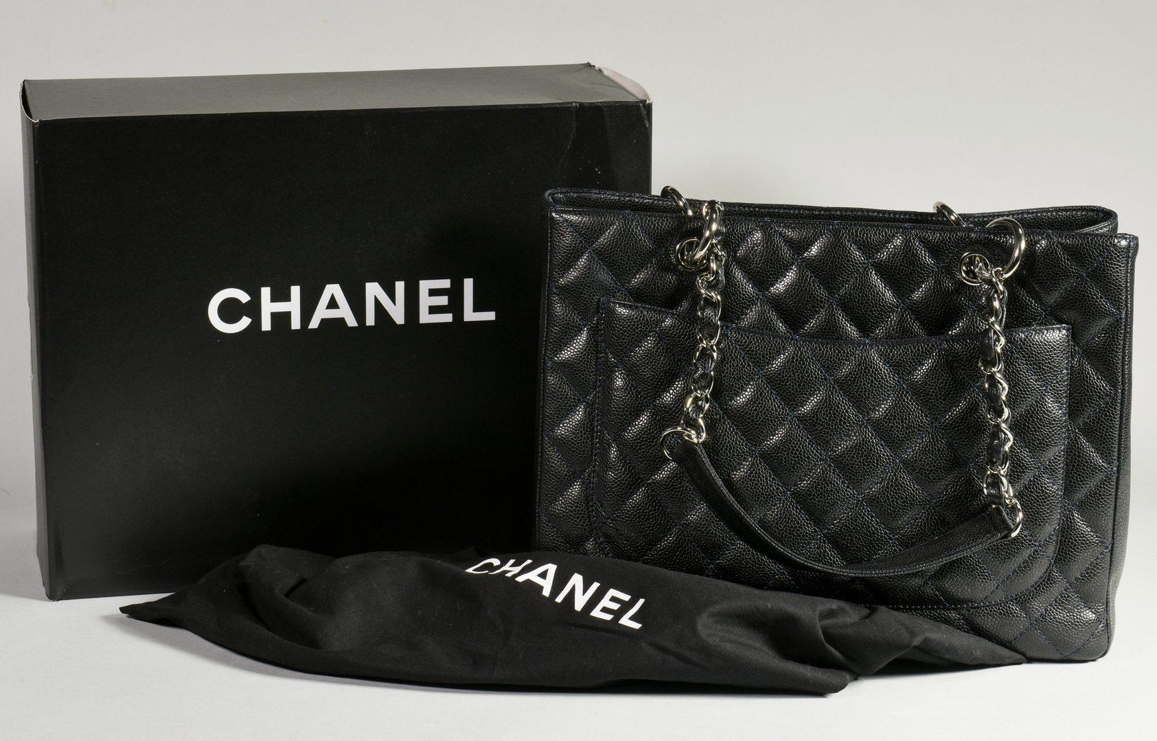 Lot 33: Chanel Grand Shopping Tote, Dark Navy