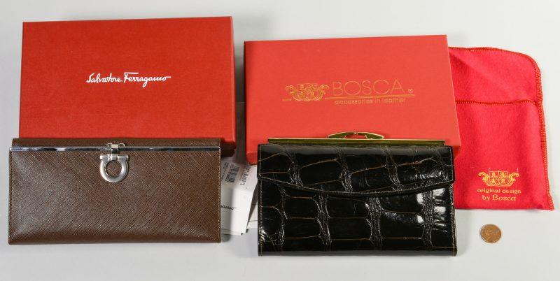 Lot 38: 2 Designer Wallets, Bosca & Ferragamo