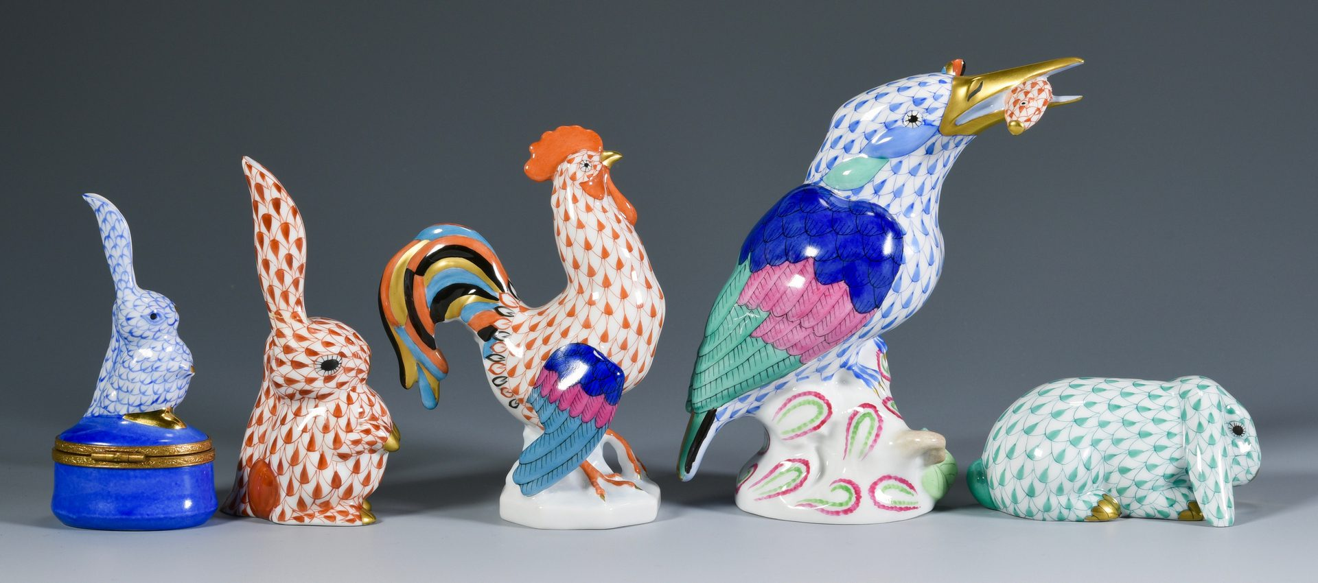 Lot 39: Grouping of Herend Animal Figures & More, 10 total