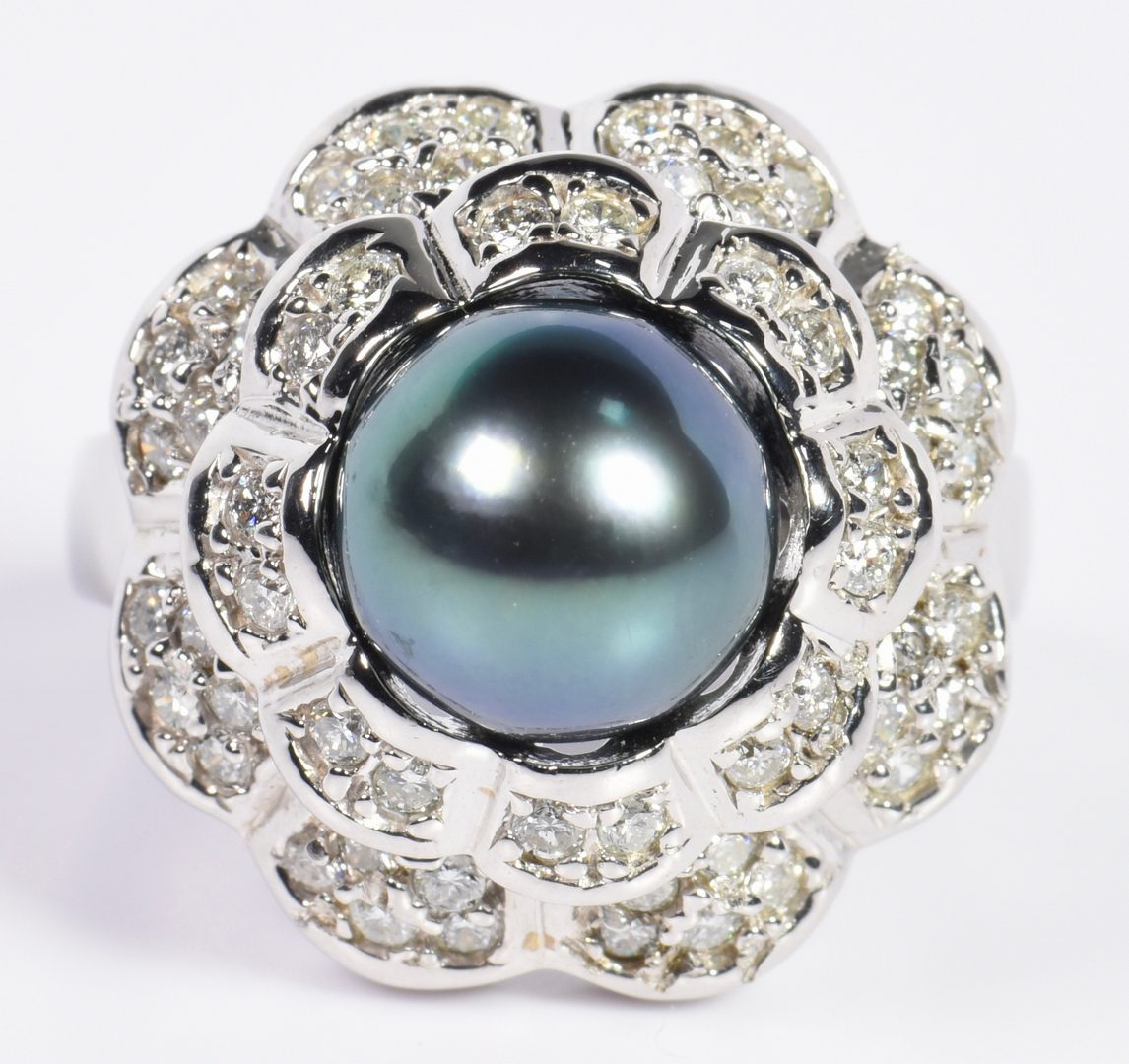 Lot 3: Tahitian Pearl and Diamond Jewelry