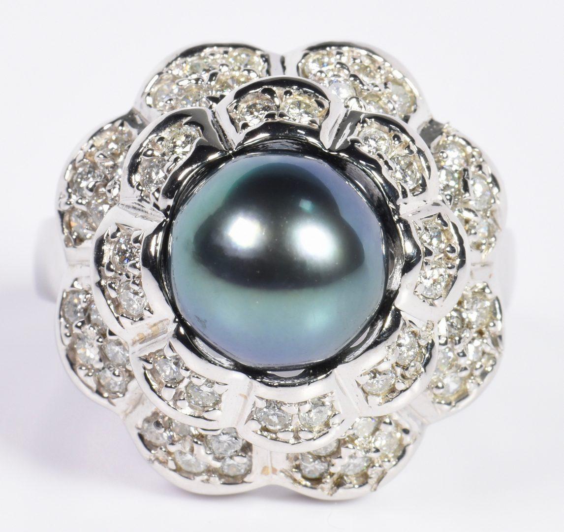 Lot 3: Tahitian Pearl and Diamond Jewelry