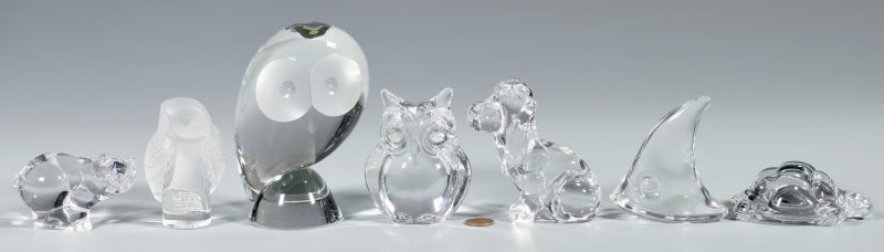 Lot 41: Daum and Steuben Glass Animals