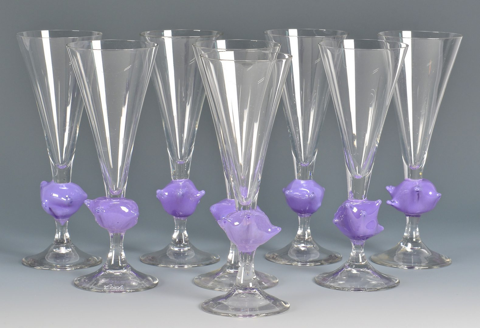 Lot 43: Erwin Eisch Ghostbuster Glasses & Fish Bowl