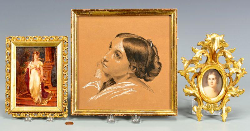 Lot 50: 3 Napoleonic Era Miniature Portraits