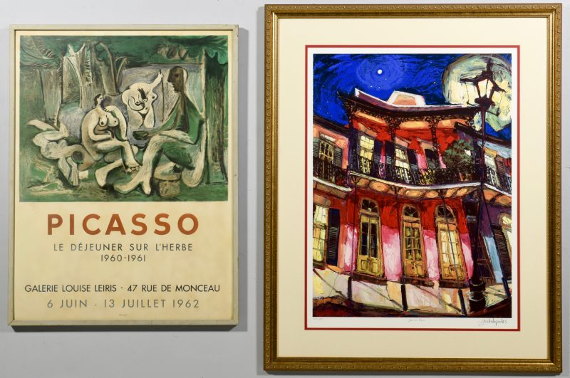 Lot 53: 2 Modern Lithographs, incl. Picasso Poster