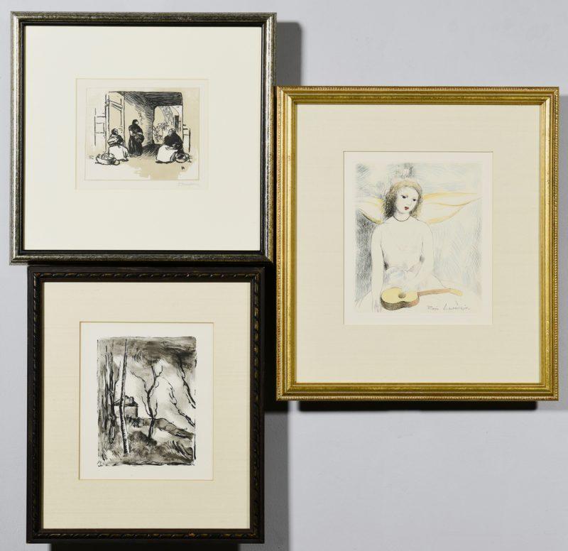 Lot 54: Three (3) prints, Vlaminck, Lepere, and Laurencin