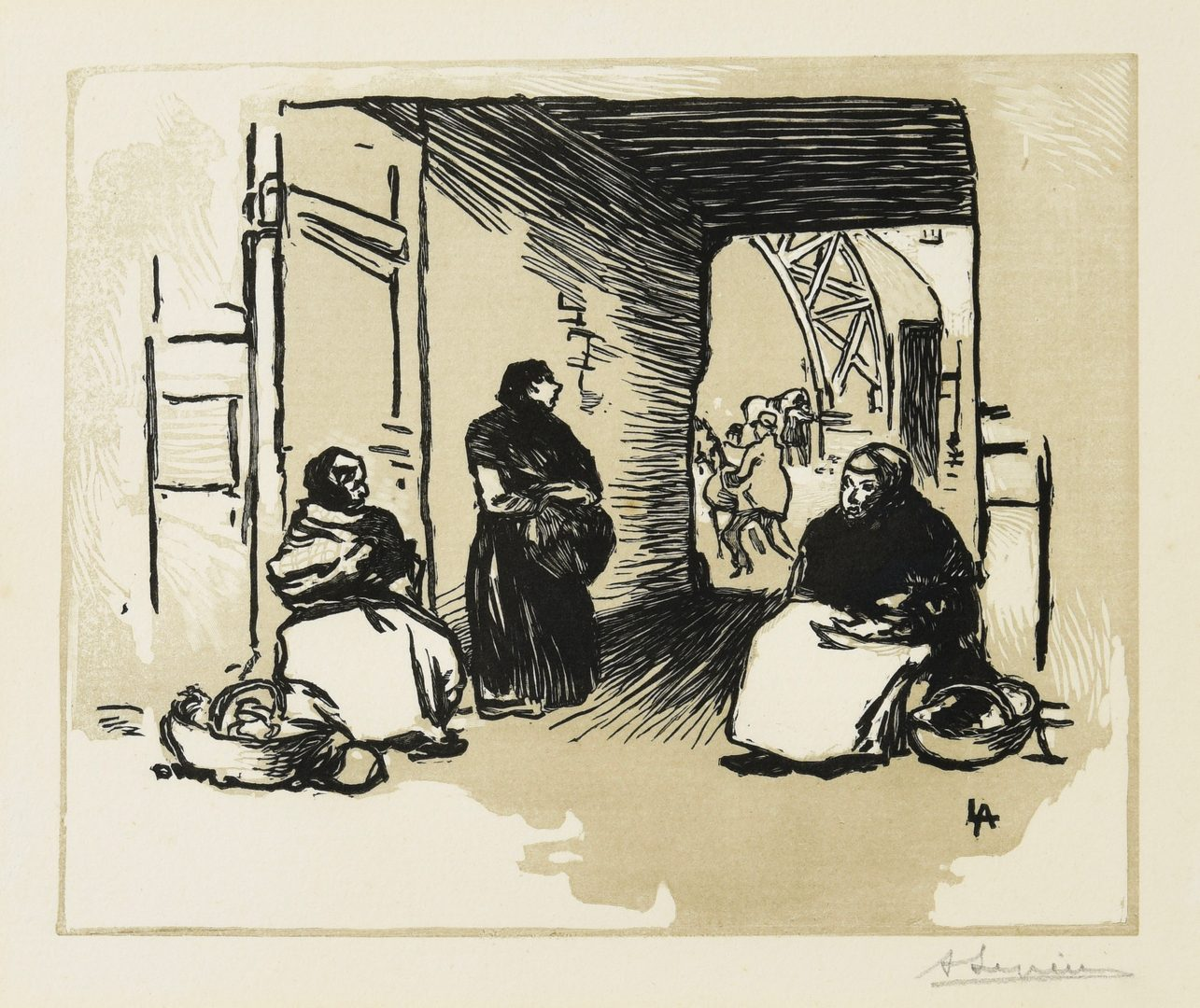 Lot 54: Three (3) prints, Vlaminck, Lepere, and Laurencin