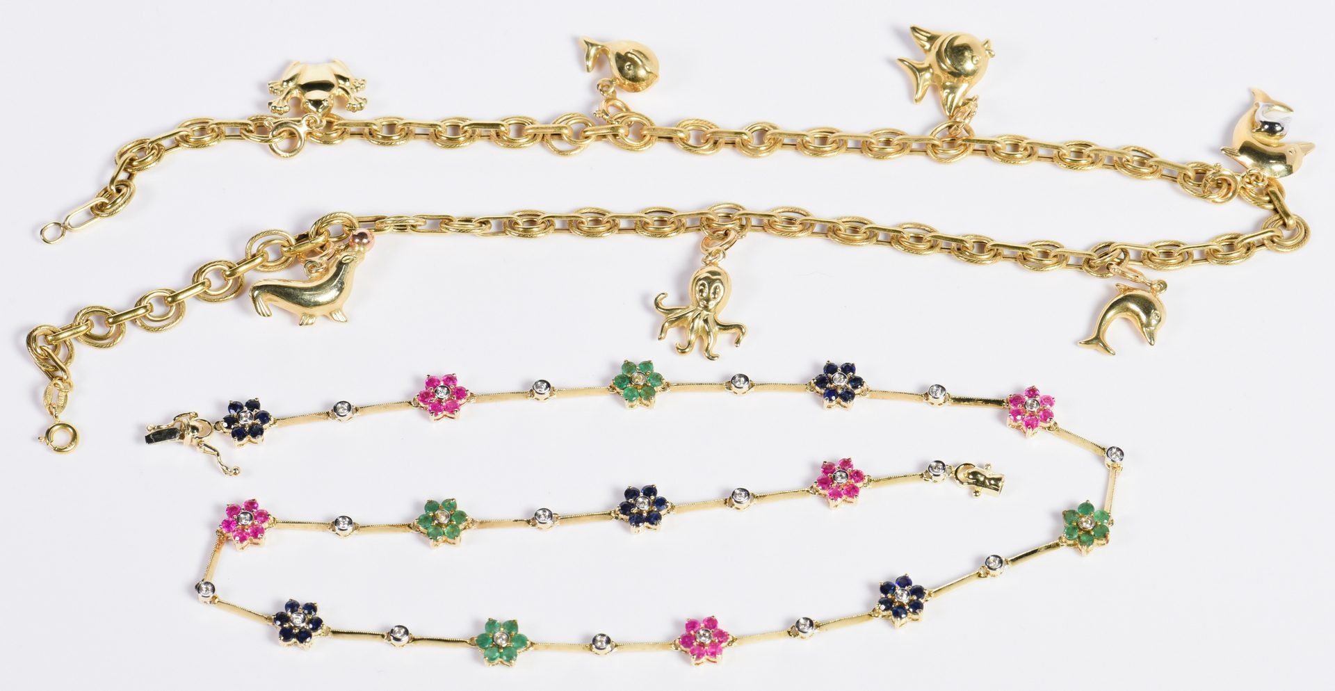 Lot 5: 2 14K Theme Necklaces