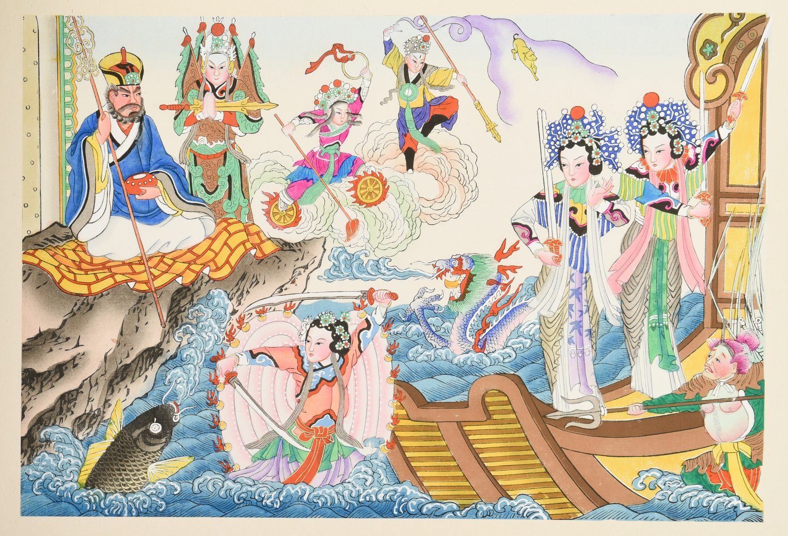 "Lot 71: Chinese Picture Storybook, ""White Snake Tales"""