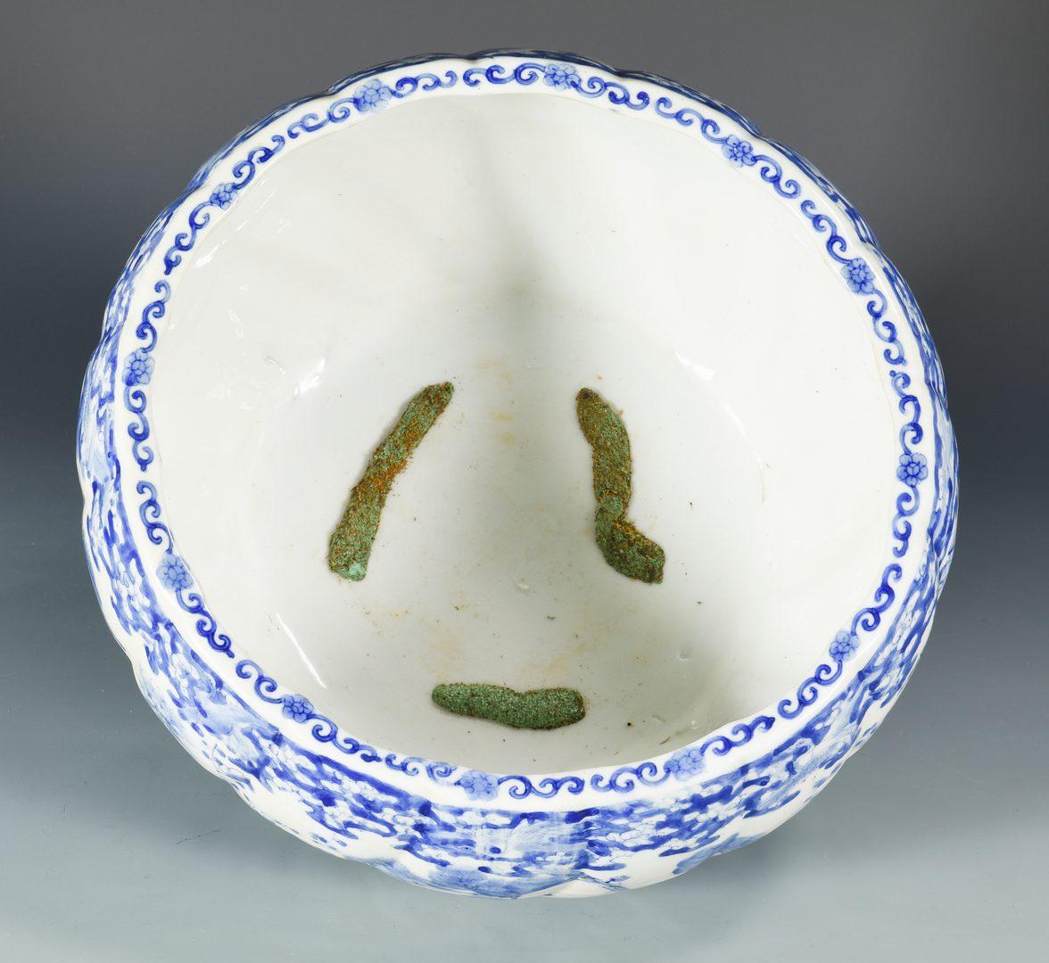 Lot 74: Japanese Sometsuke Porcelain Fish Bowl