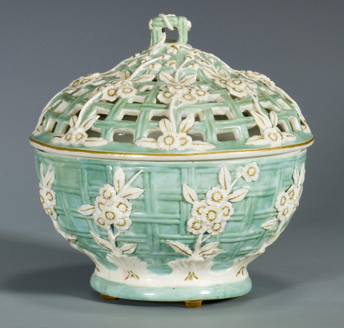 Lot 77: English Porcelain Chestnut Bowl