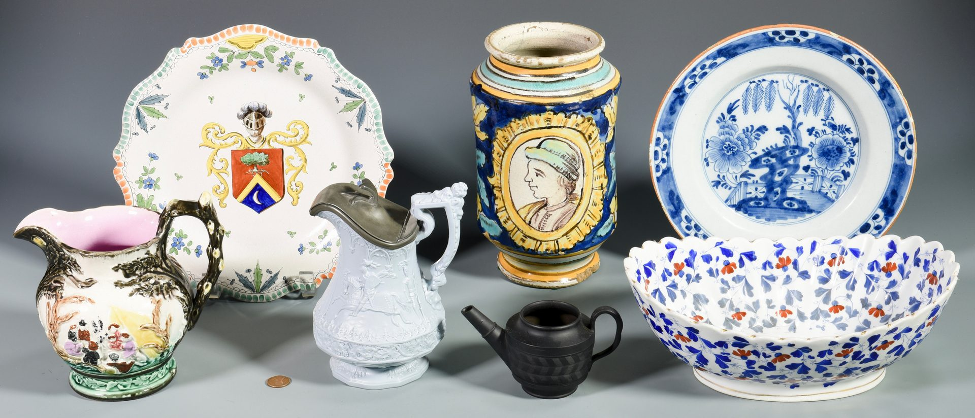 Lot 82: 7 Pieces of English & European Porcelain