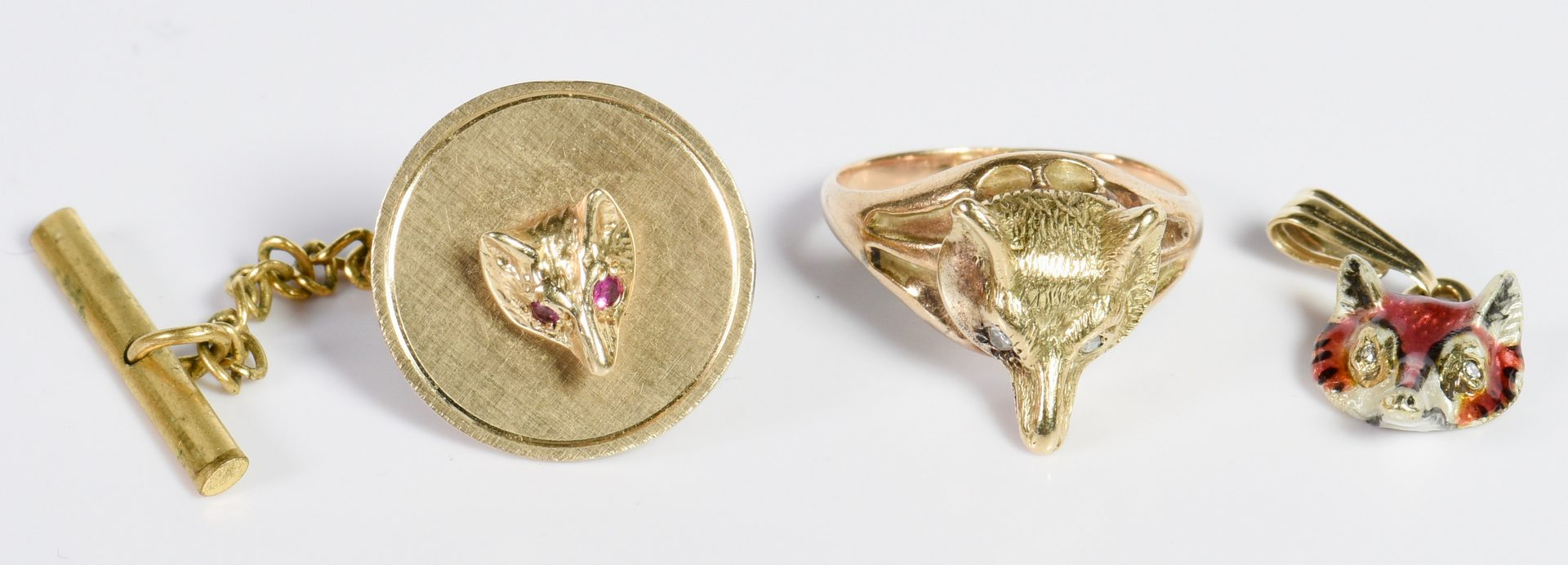Lot 8: Group of Equestrian Gold Jewelry
