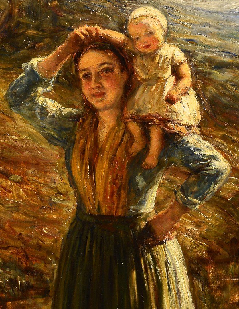 Lot 93: Hugh Cameron, O/C, Woman and Child