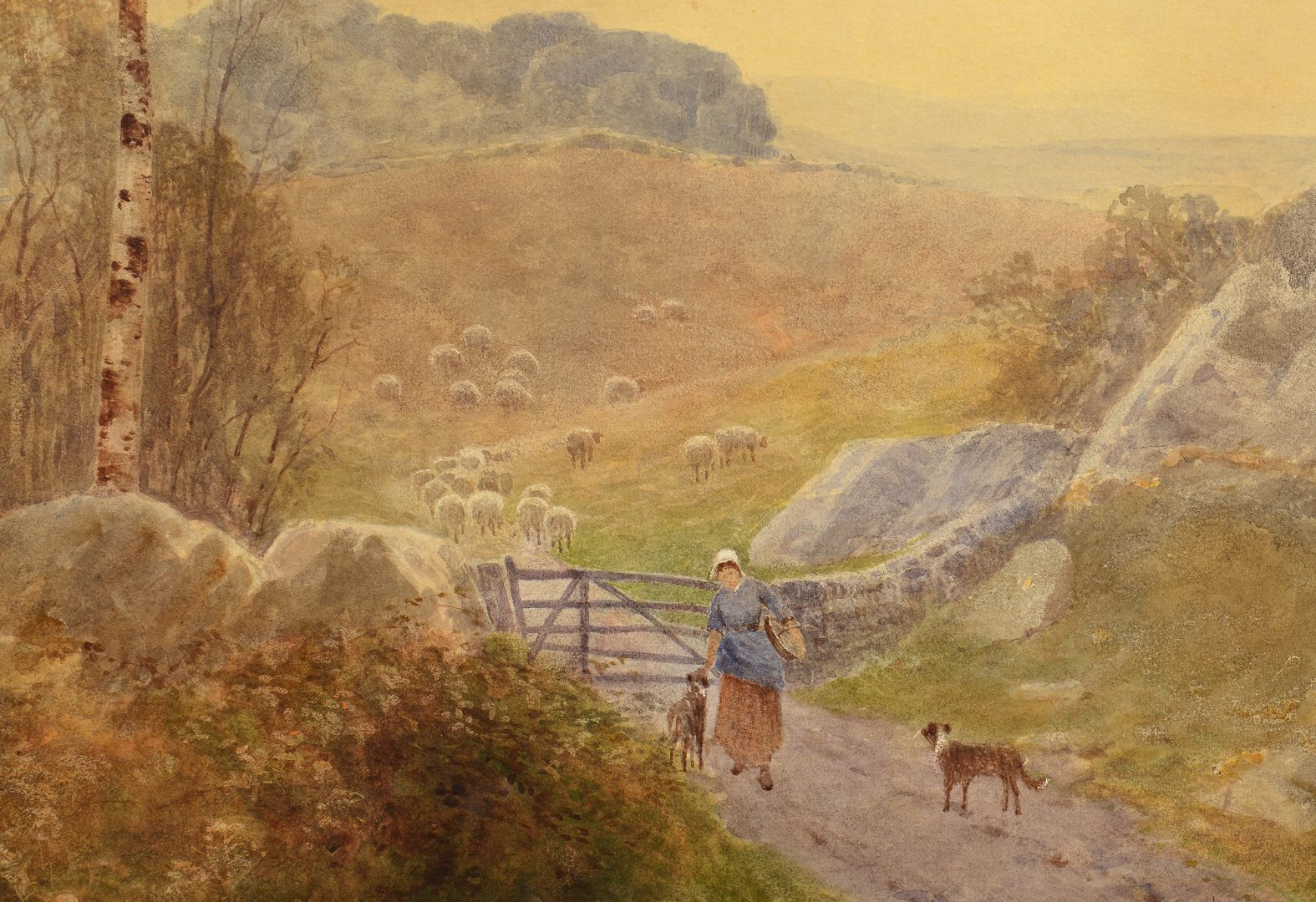 Lot 95: Frank Gresley Watercolor Landscape