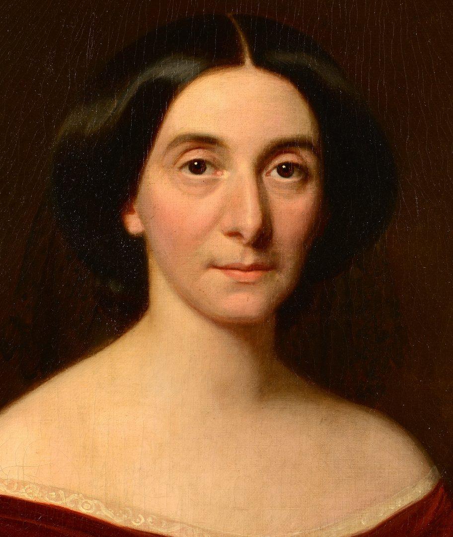 Lot 99: W. Volkhart portrait of a lady