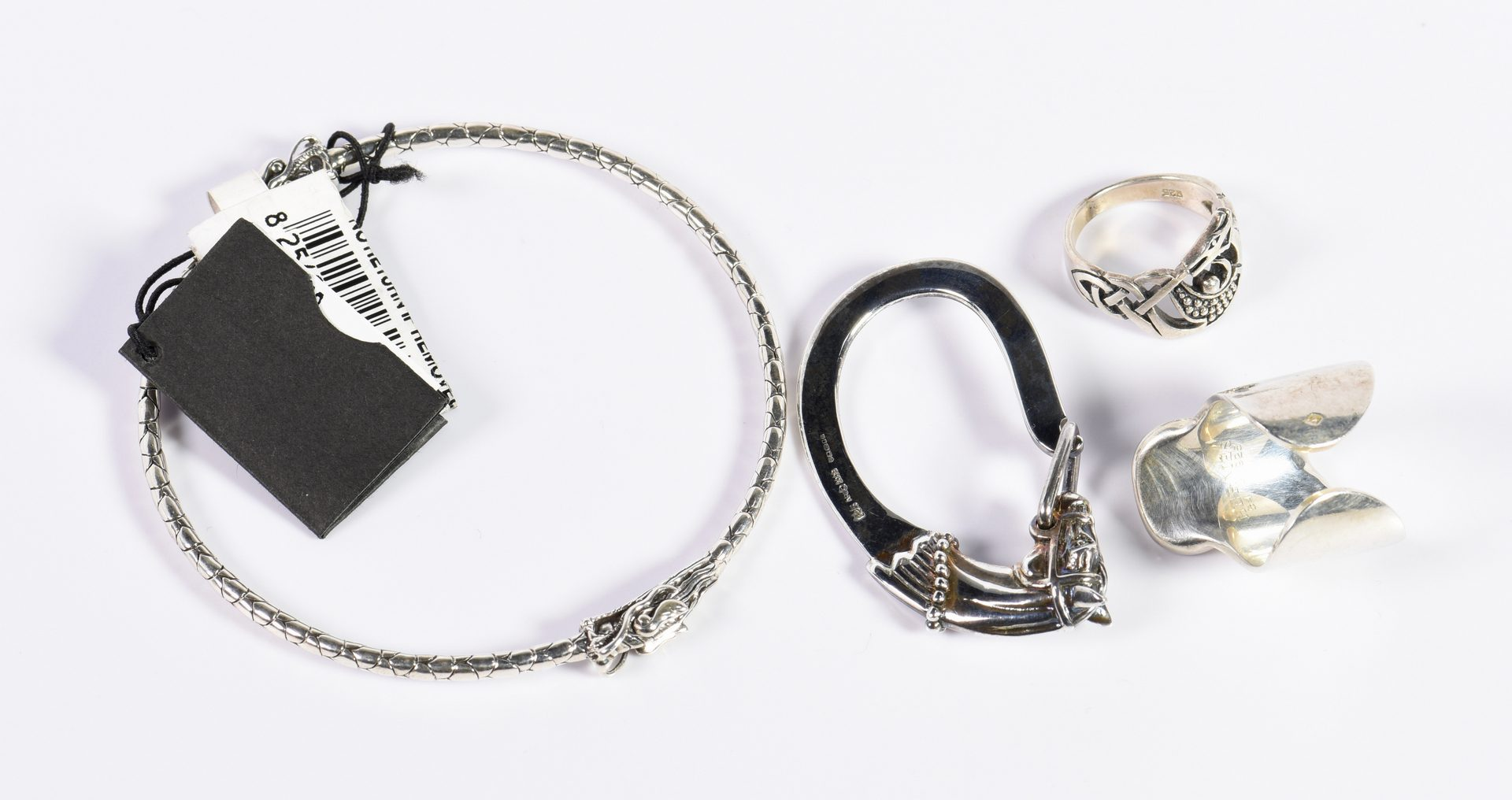 Lot 9: Group Sterling Equestrian Jewelry Items