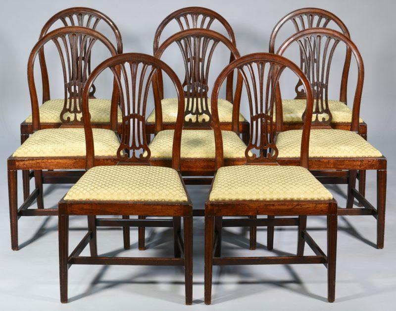 Lot 100: Set 8 George III Mahogany Dining Chairs