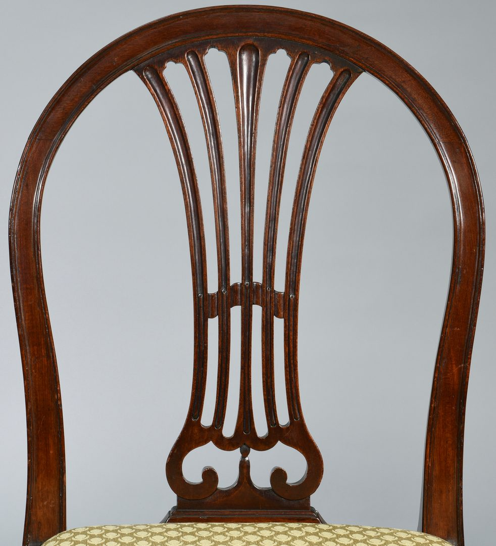 Lot 100: Set 8 George III Mahogany Dining Chairs