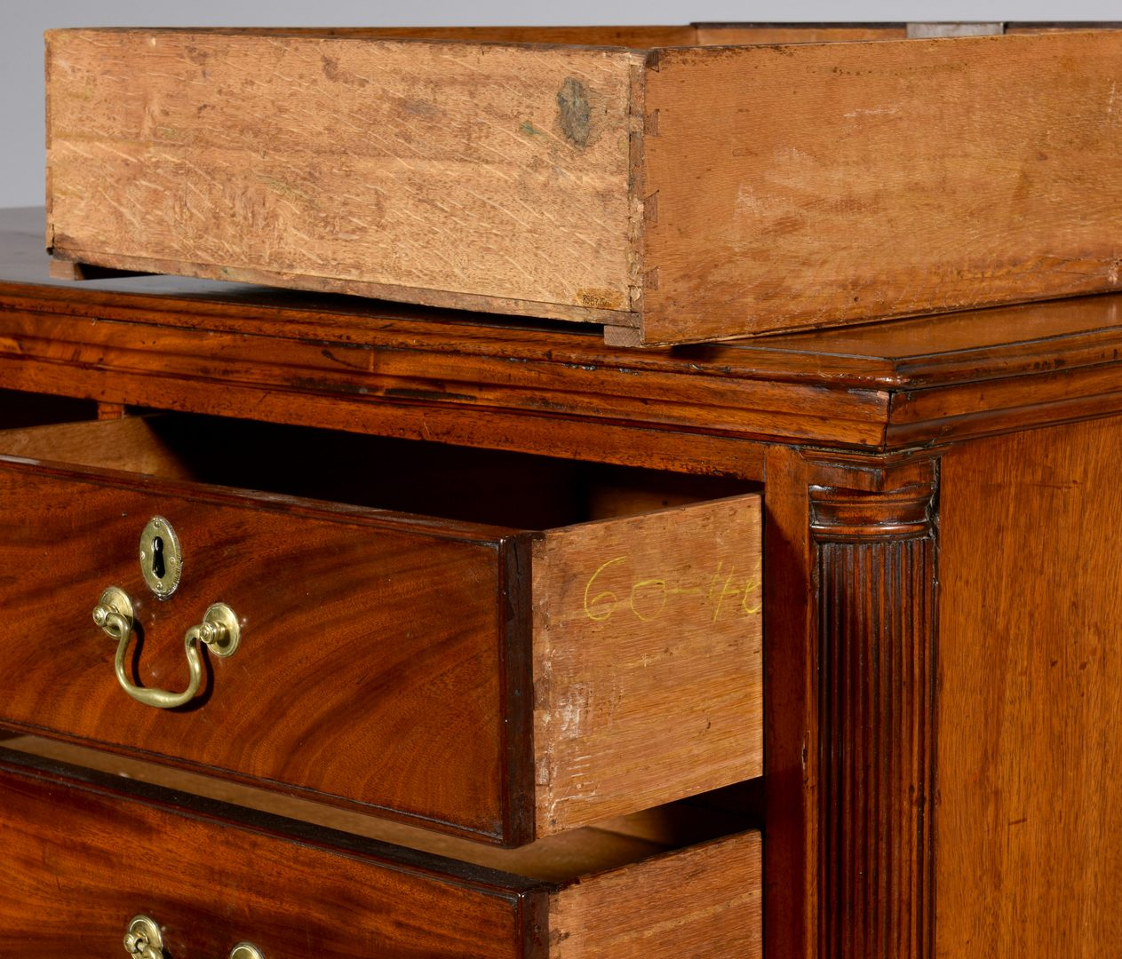 Lot 101: George III Mahogany Chest of Drawers