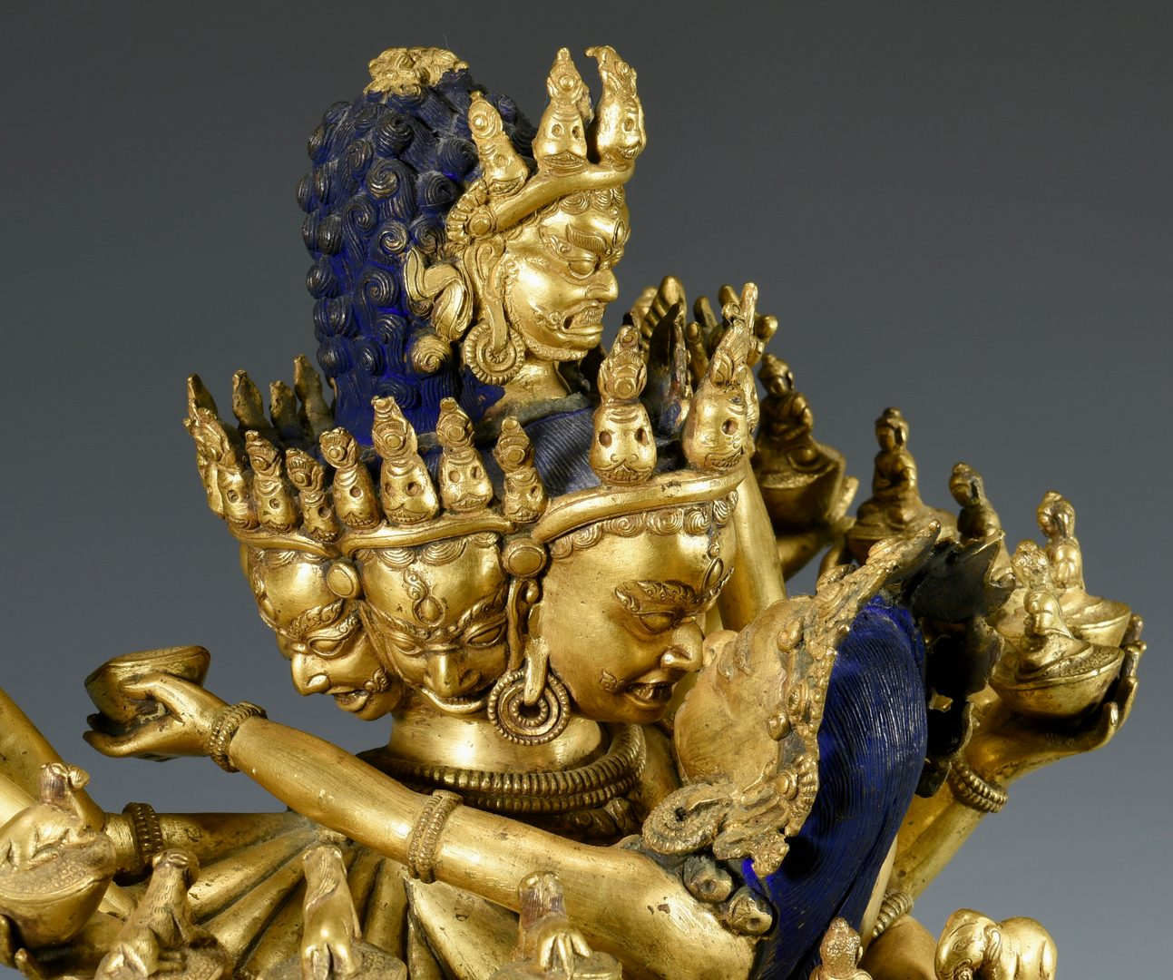 Lot 10: Large Bronze Tibetan Hayagriva Sculpture