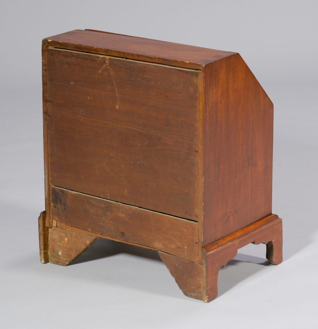 Lot 110: 19th c. Miniature Cherry Desk